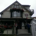 """View from outside of the Victorian... our """"Suite"""" was on the top w/the deck & flowers."""