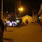 La plaza Manco Capac en Aguas Calientes