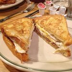 The amazing French Toast Sandwich (per my son)