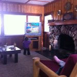 New Television/ Beautiful Log Cabin