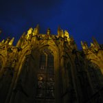 Sint Jan's at night, around the back
