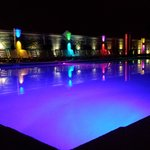 The pool at night with smartphone camera.