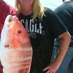 the snapper is as fat as me!!