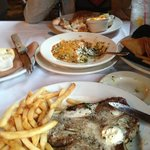 Delmonico Steak, and Icelandic Cod in the background