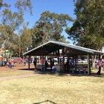 Undercover area near children's playground