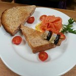 the thickest toast and the most generous portion of smoked salmon!