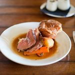 Sunday roast with amazing Yorkies and local meat..