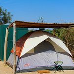 Our tent at the Gamewatchers Adventure Camp in Selankay Conservancy.