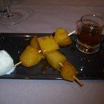 un dessert du menu