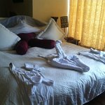 A nice little swan and heart prepared by Margarita our housekeeper