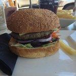 Cafe beef burger