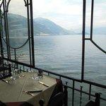 Vista dall'interno del ristorante