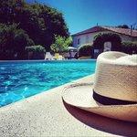 La piscine, les gîtes & le soleil