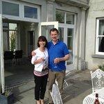 Michael Thornton and I enjoying a glass of wine on a beautiful Irish day.