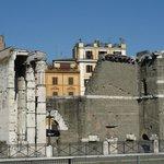 La terrasse de la Residence vue depuis la Via dei Fori Imperiali