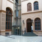 Entrance Hall of museum, with elevator