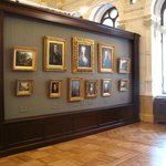 Room with 18th-century portraits