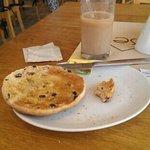 toasted teacake & iced coffee