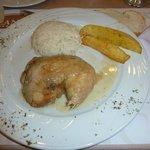 Pollo riso e patate per cena