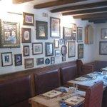Inside our lovely pub!