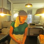 Our lovely chef/ hostess/ owner of restaurant