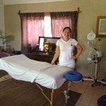 Karla De león, the masseuse at Budha Gardens Spa, Akumal