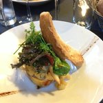 VERY generous and tasty foie gras appetizer with toasted bread