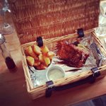 Lovely fish and chips hamper