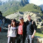 With our fantastic guide Wilbur at the end of our tour at Machu Picchu