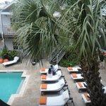 Area da piscina/cafe da manhã