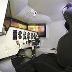 OVO-04 Flight Simulator inside cockpit