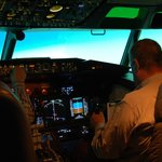 Boeing 737-NGV Simulator in Flight