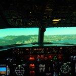 Boeing 737-NGV simulator approaching Kai Tak