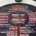 cool menus printed on vinyl