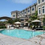 Family-friendly pool area