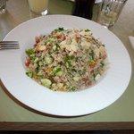 The lovely fresh quinoa salad!