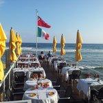 new dock dine over the Caribbean Ocean