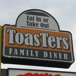 Toasters Family Diner Street Sign.