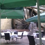 The Mill Wheel outside the restaurant