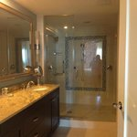 master bath with huge shower