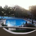 piscine chauffer vu de la chambre