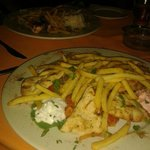 The lovely Greek plate from Lido restaurant.