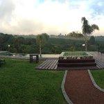 La piscina y las vistas