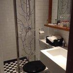 Modern bathroom in single room