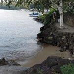 Mini sandy beaches at Church Landing