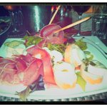 delicious salade with goat cheese &mozzerella