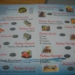 La carte sushi