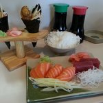 Shrimp Cones & Sashimi Lunch Special