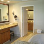 Part of the master bathroom suite