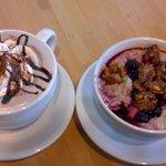 Breakfast!  Oatmeal and Hot Chocolate